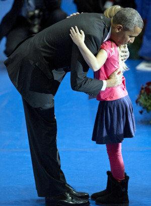 순직 소방관 추모 행사에 참석한 오바마
