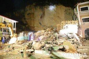 중국 후베이성 호텔 붕괴 현장… 다수 매몰