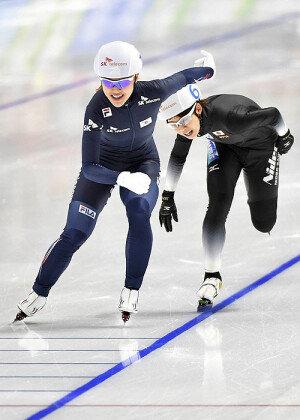 김보름, 한국에 첫 금…女 매스스타트서 우승