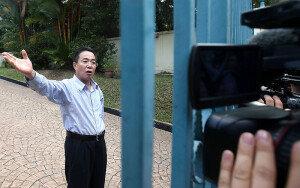 말레이 北 외교관, 취재진에게 엄포