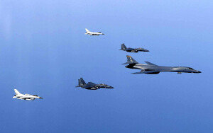미 전략폭격기(B-1B) 한반도 전개