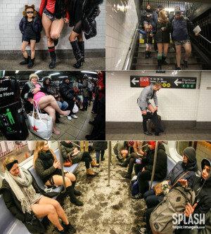 상의만 입은채 지하철에 버젓이…  이 사람들, 도대체 뭘까?