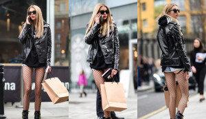 스텔라 멕스웰, 짧은 핫팬츠에 가죽 재킷 입고 산책