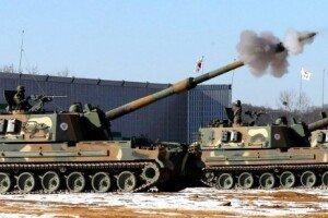 훈련중 사고난 K-9 자주포 육군 포병의 핵심 전력