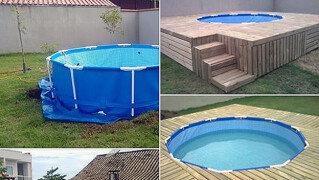 [라이프]직접 만든 수영장<br> 집 뒤뜰에 뚝딱! 가능한가 보니…