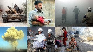 """""""아이들은 죄가 없습니다"""" <br>시리아 알레포 참상 사진"""