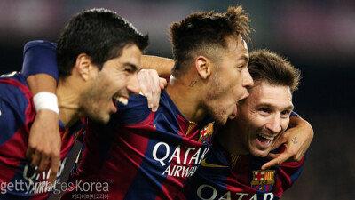 '공포의 삼각편대' 바르셀로나, 10시즌 연속 3명 이상 '두자릿수 득점'