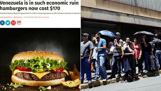 햄버거 한개에 20만원? 베네수엘라 경제 붕괴 실상