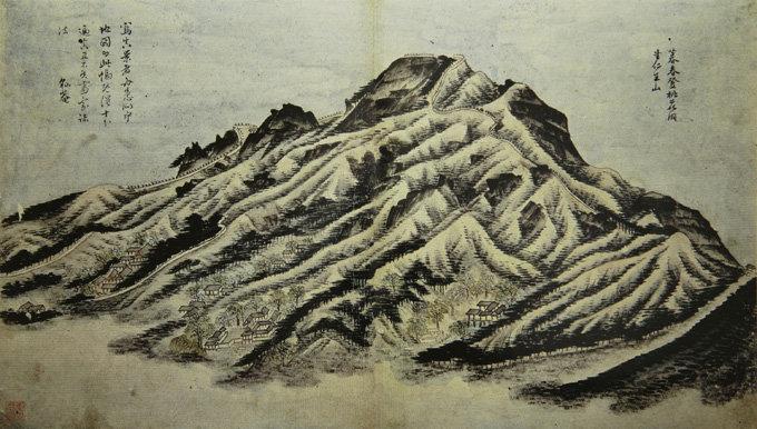 18세기 조선 화가 강희언이 그린 인왕산도.[윤채근 제공]