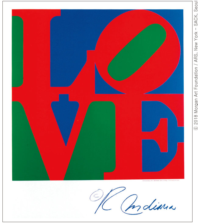 Robert Indiana, 'Classic Love', 2002