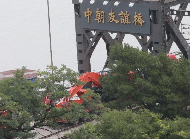 북한 신의주와 중국 단둥을 잇는 중조우의교. [변영욱 동아일보 기자]