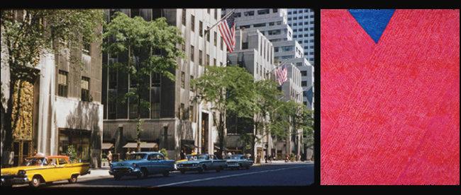 5월 27일 서울옥션 홍콩 경매에서 한국 근현대미술 경매 최고가(85억3000만 원)에 낙찰된 김환기의 '붉은 점화'(3-11-72 #220, 254x202cm, 1972) (오른쪽)