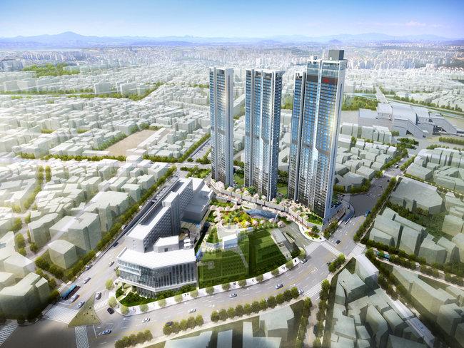 동남구청부지 복합개발 조감도. 약 6000평 부지에 2286억 원의 사업비가 투입된다. [천안시 제공]