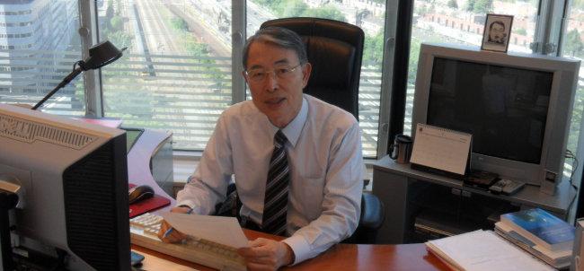 2011년 5월 12일 네덜란드 헤이그 국제형사재판소 사무실에서 촬영한 사진이다.