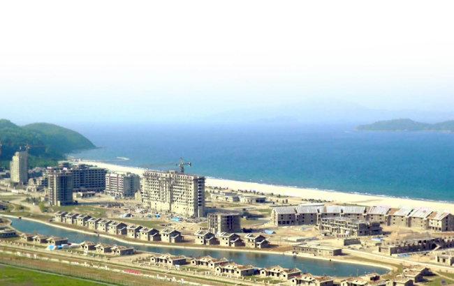원산갈마 해안관광지구 건설 현장.