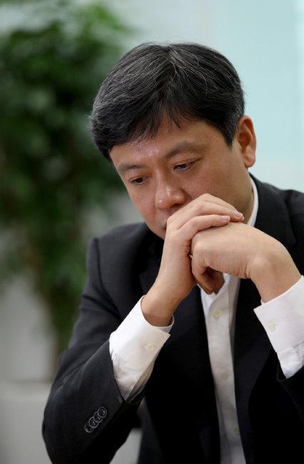 2017년 12월 5일 '신동아'와 인터뷰 중인 장병규 4차산업혁명위원장. [김성남 기자]