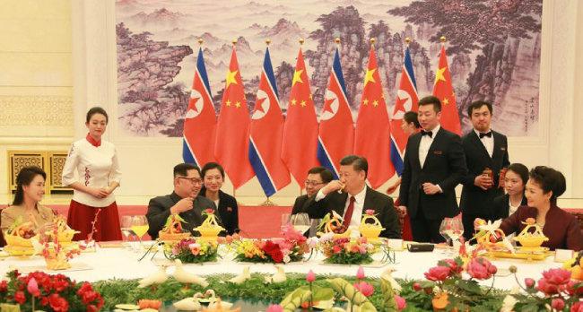 김정은-시진핑 정상회담이 올해 세 차례 열렸다. [출처·우리민족끼리]