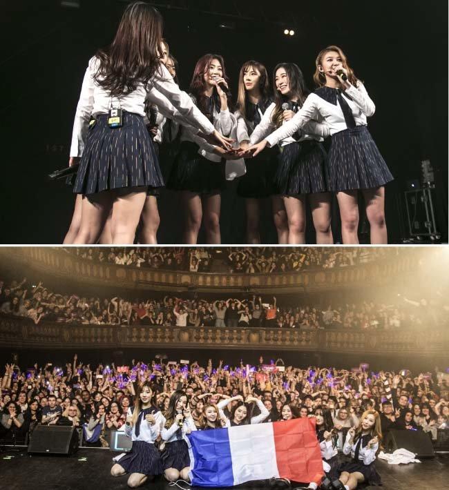 드림캐쳐는 프랑스 파리 등 유럽 여러 도시의 현지 팬 앞에서도 콘서트를 열었다.