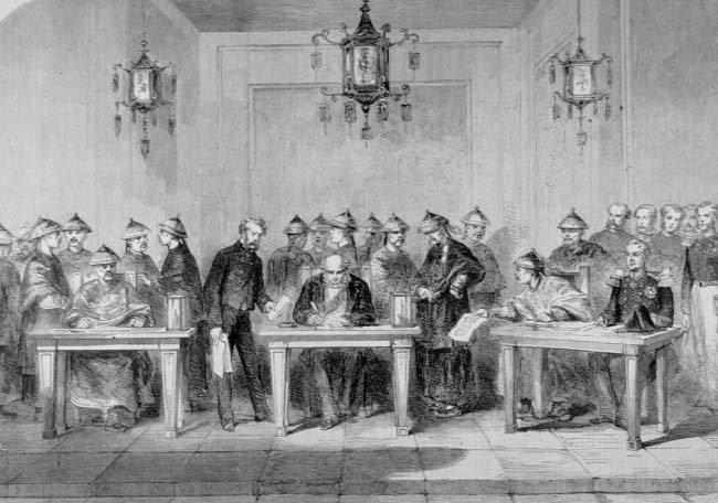 톈진조약 기록화. [위키피디아]
