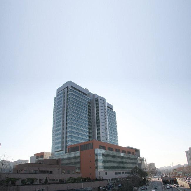 가톨릭중앙의료원 산하, 서울 반포 소재 서울 성모병원 전경.