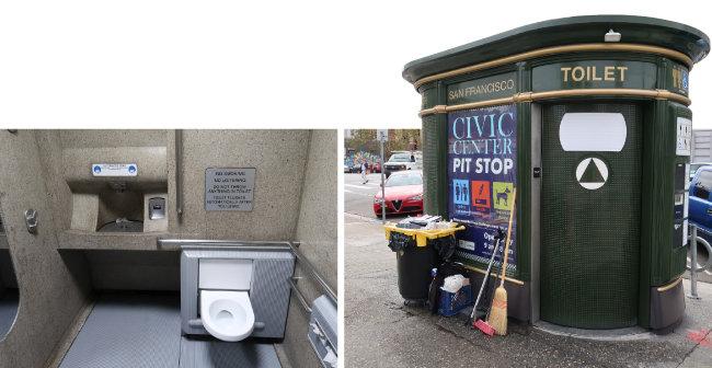 샌프란시스코 시내의 공중화장실.