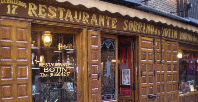 세계에서 가장 오래된 식당 '소브리노 데 보틴'. [위키피디아]