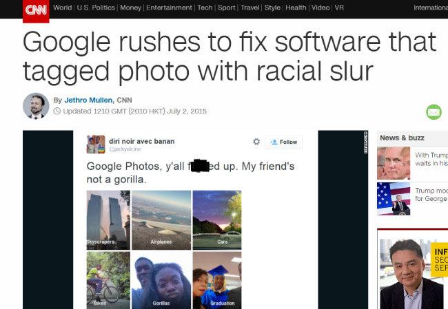 구글은 구글 포토가 아프리카계 미국인을