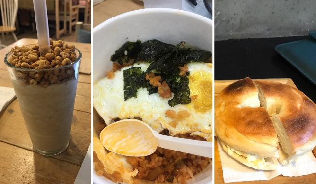 서울 대학가 자취생들이 끼니를 때우는 음식이라며 보내온 사진