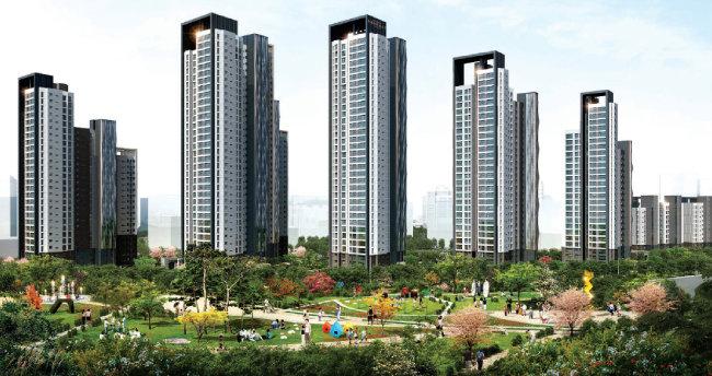 올해 1월 분양한 대우건설 '과천 센트럴파크 푸르지오써밋'. [동아DB]