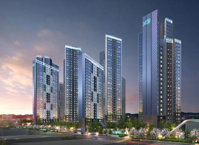 삼성물산 '반포 래미안 퍼스티지'와 GS건설 '반포 센트럴자이'. [동아DB]