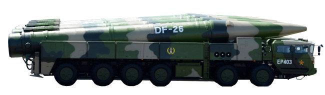 중국 DF(둥펑)-26 미사일. [동아DB]