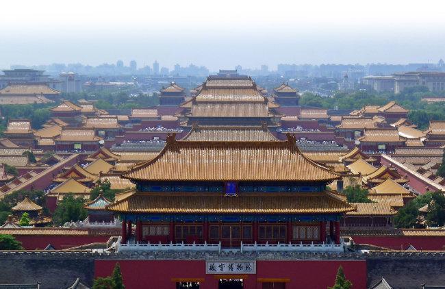 중국 베이징 자금성. 명대부터 청대까지(1420~1912) 중국 황실 궁궐이었다. [위키피디아]