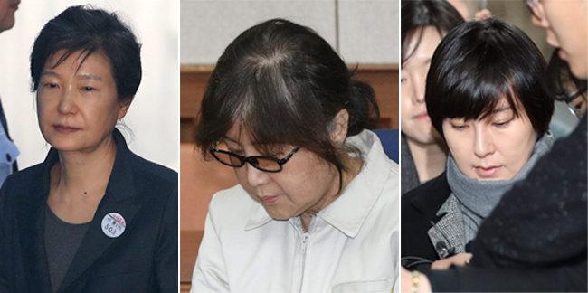 박근혜, 최순실, 장시호(왼쪽부터) [동아DB]