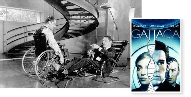유전자 편집 시대의 위험을 보여준 영화 '가타카' 포스터와 스틸컷. [사진 제공· IMDb]