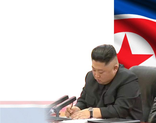 1월 10일 중국 CCTV는 김정은 북한 국무위원장이 시진핑 중국 국가주석의 발언에 고개를 끄덕이며 받아쓰는 장면을 보도했다.