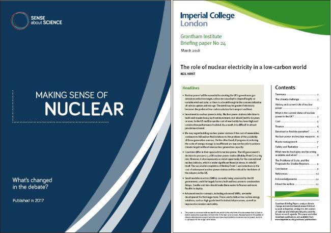 기후변화 시대에 원자력의 가치를 다시 봐야 한다는 보고서들.