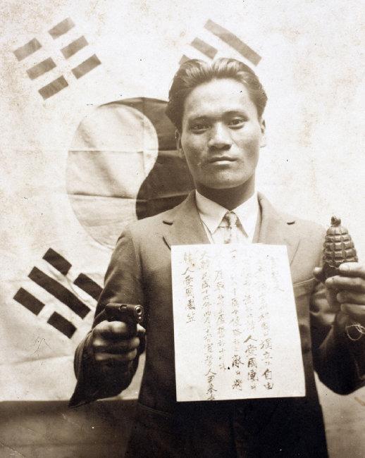 1932년 4월 26일 윤봉길 의사의 한인애국단 선서식 모습. [사진 제공·국가기록원]