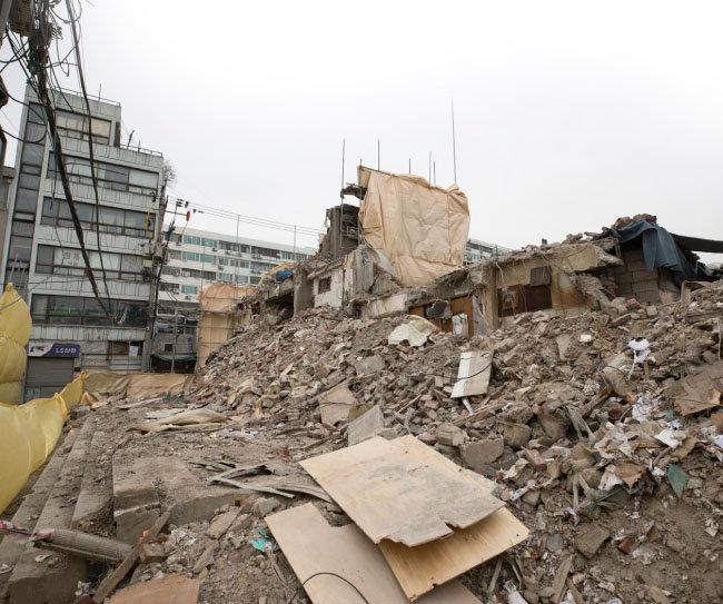 세운3-1·4·5구역의 철거 잔해.