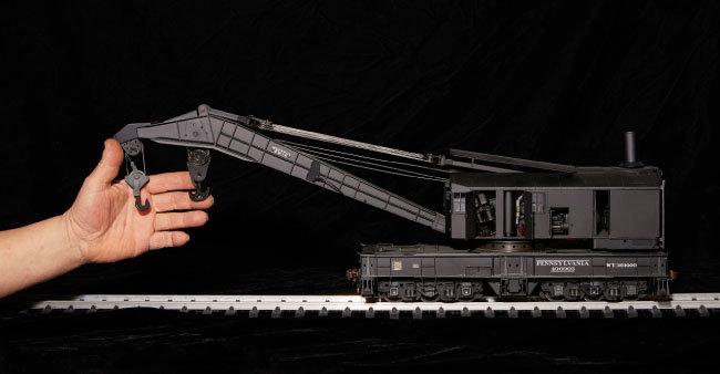 미국 부사이러스 이리(Bucyrus erie)사의 철도 크레인 모형.