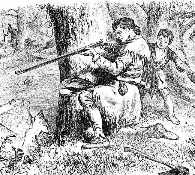 미국 식민지 시대의 사냥 모습. [FCIT]