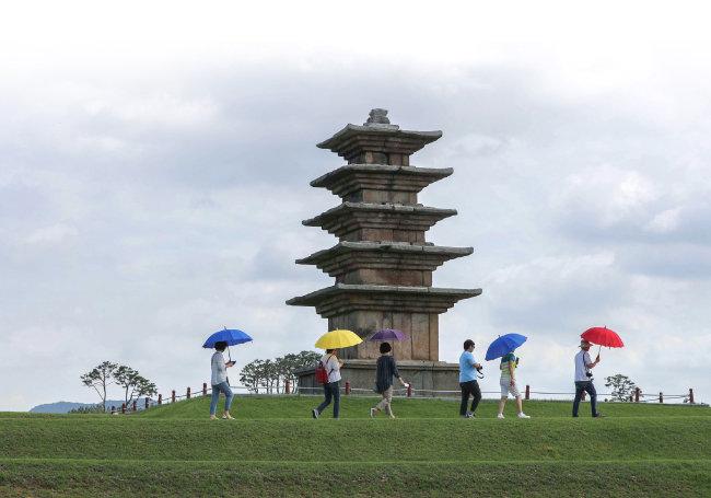 전북 익산 왕궁리유적 5층석탑. [뉴시스]