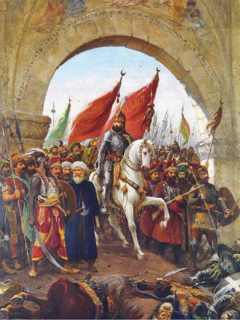 파우스트 조나로의 그림 '마호메트2세의 콘스탄티노플 정복'.