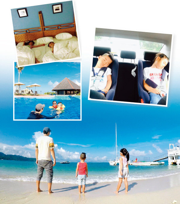올 여름 홀로 아이들을 데리고 일본 오키나와 여행을 다녀온 정우열 원장은 인터넷 블로그에 후기를 상세히 올리면서 아빠들에게도 강력 추천해 눈길을 끌었다.[사진 제공정우열]
