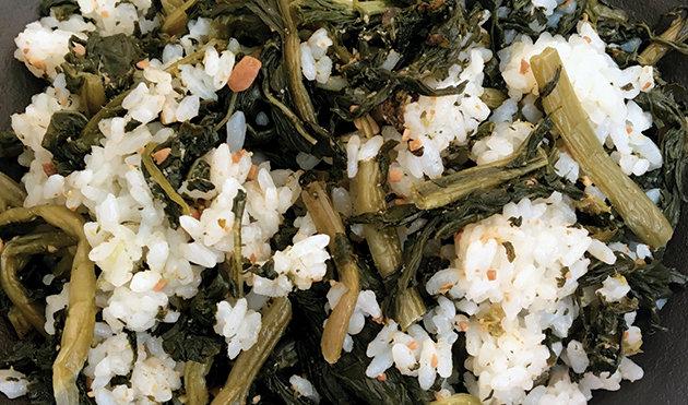 무청 시래기밥.