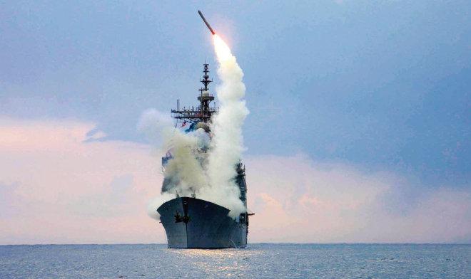 미국 해군이 보유한 토마호크 미사일.[사진 제공미 해군]