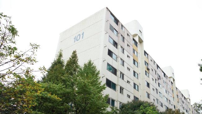 김부선 씨가 입주한 아파트 전경. [지호영 기자]