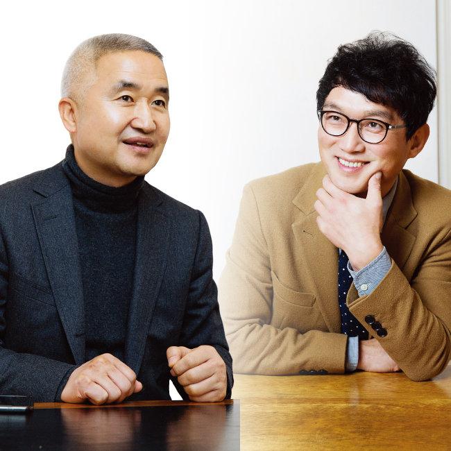 최진석 서강대 철학과 교수. 고명환 '메밀꽃이 피었습니다' 대표.(왼쪽부터)[김도균]