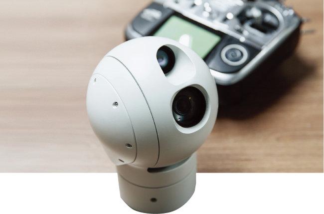 카메라 여러 대가 360도 회전하는 '짐벌'. [김도균 기자]