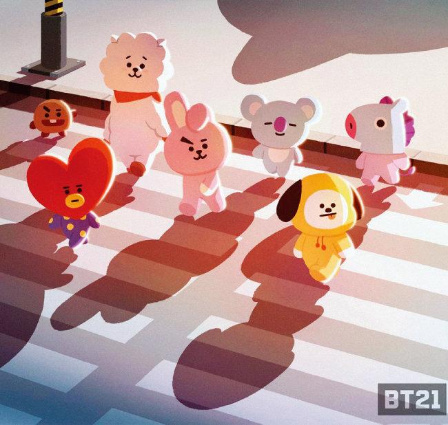 방탄소년단 멤버들을 닮은 BT21 캐릭터. [사진 제공·라인프렌즈