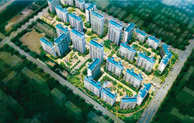 2014년부터 리모델링을 추진해온 경기 성남시 정자동 느티마을3·4단지는 현재 건축심의를 통과해 이주를 앞두고 있다. 사진은 리모델링 이후 바뀔 아파트 조감도. [사진 제공·성남시]